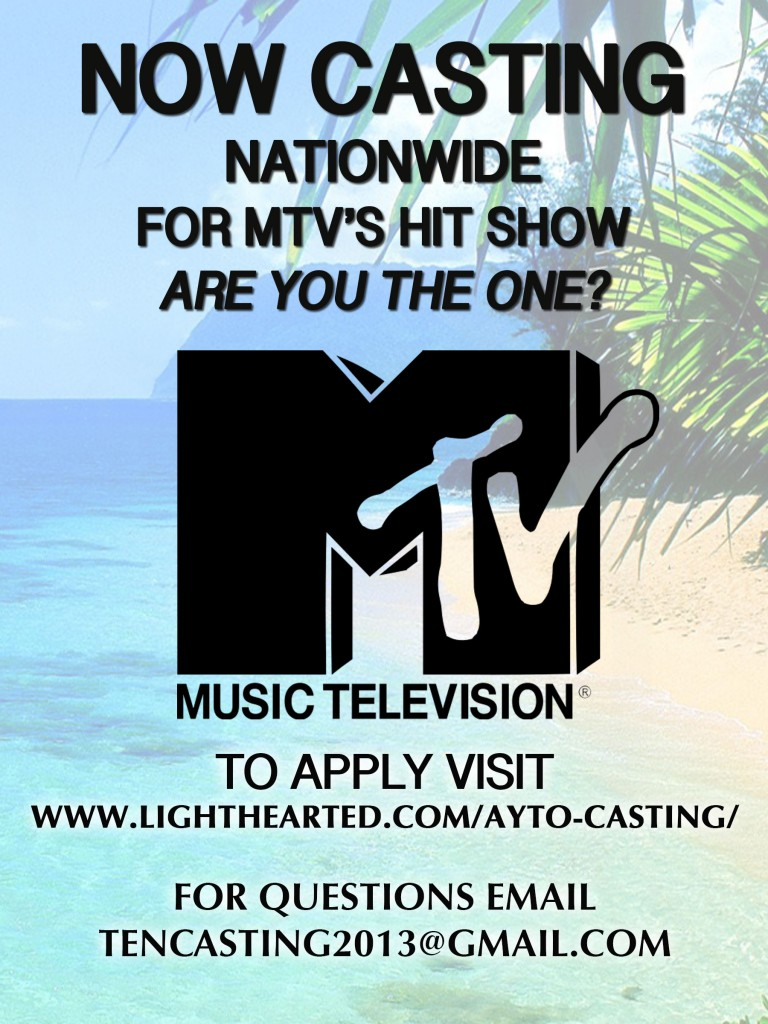 MTV Are You The One Casting for 2017 / 2018 season