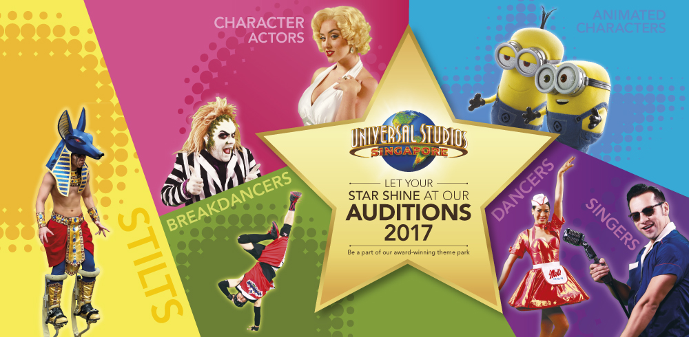 Universal Studios Singapore Audition Tour 2017