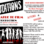 Theater Auditions in Decatur Georgia for 'No More Strength""