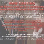 Major TV Network Show Casting Nationwide for People Marrying into A Lot More or Less Money
