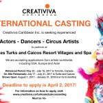 Worldwide Open Online Auditions for Actors, Dancers & Circus Artists to Perform in The Caribbean
