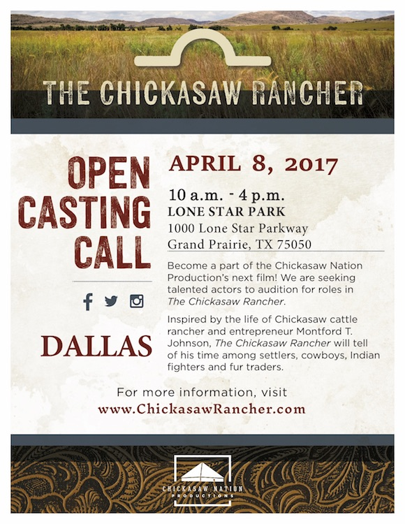 Chicksaw Rancher Open casting call