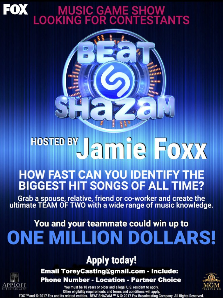 Beat Shazam auditions