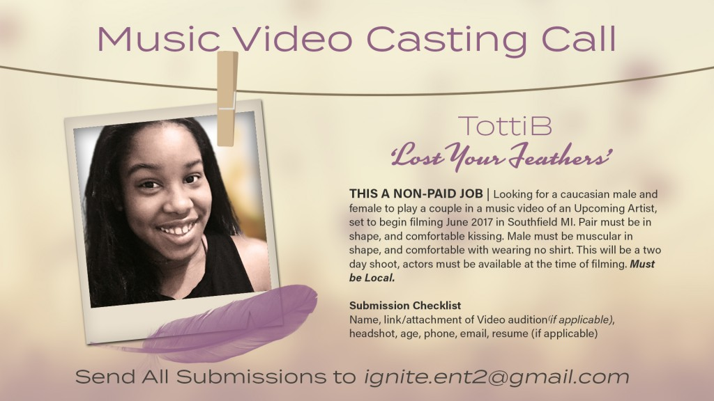 music video casting flyer
