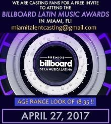 casting Billboard Latin Music Awards