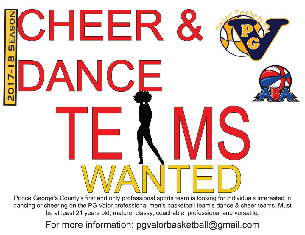 Dance Team auditions in Maryland