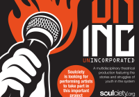 Unincorporated audition flyer