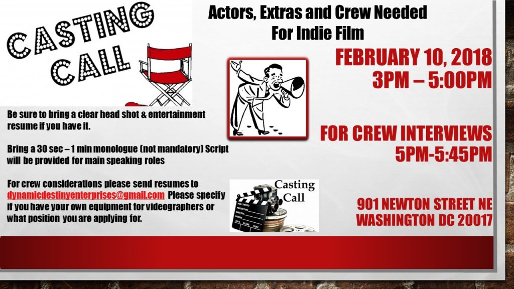Non Speaking Role Extras 18 And Above Send Head Shot Full Body With Contact Information Such As Name Phone Number To Reach You