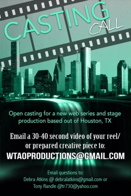 Actress and Actor Audition in Houston Texas for Stage Show