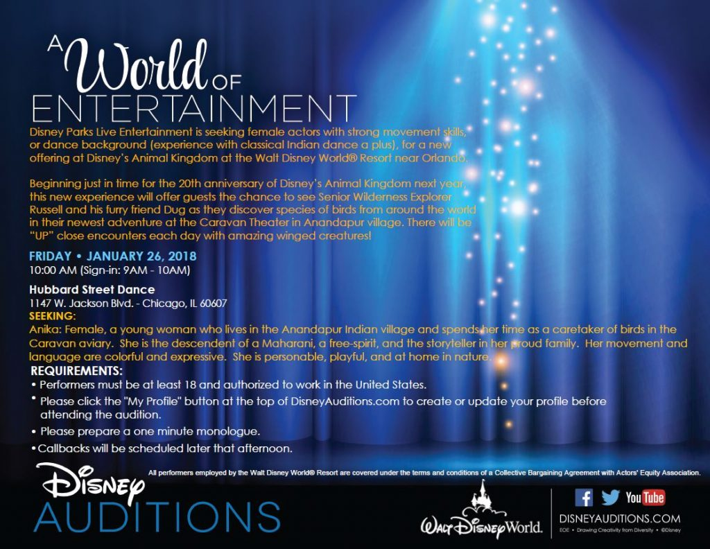 Disney auditions in Chicago