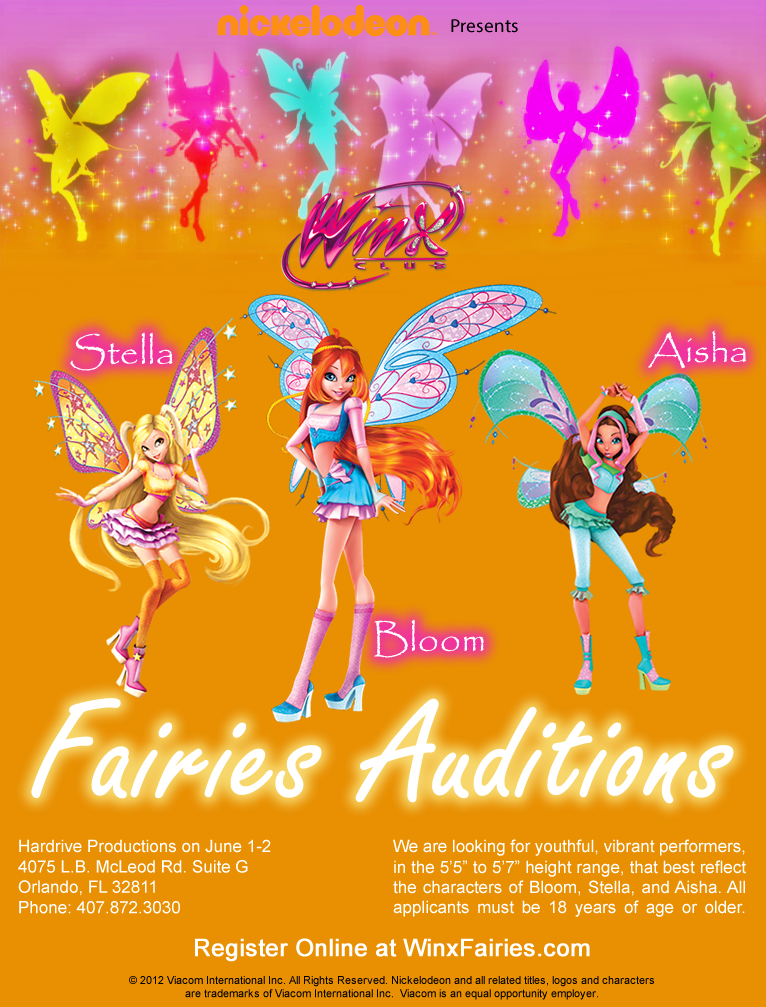 Winx-nickelodeon-auditions | Auditions Free