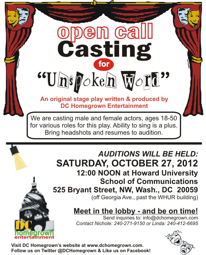 Casting Call Flyer Auditions Free