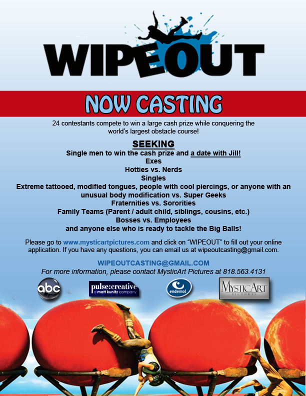 Wipeout tryouts flyer