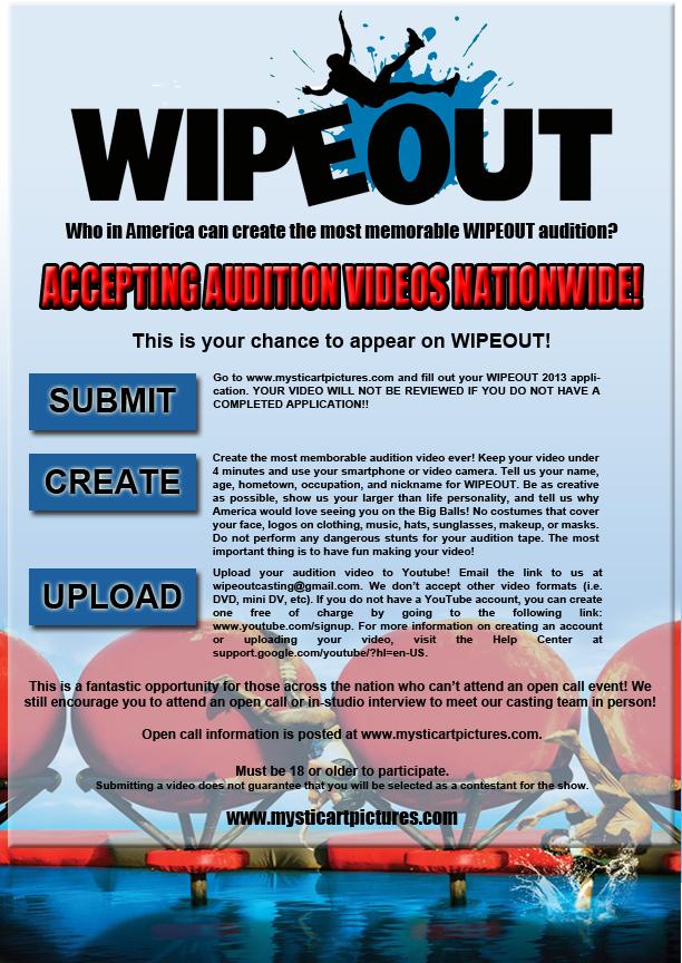 Wipeout 2014 season 7 audition informatio