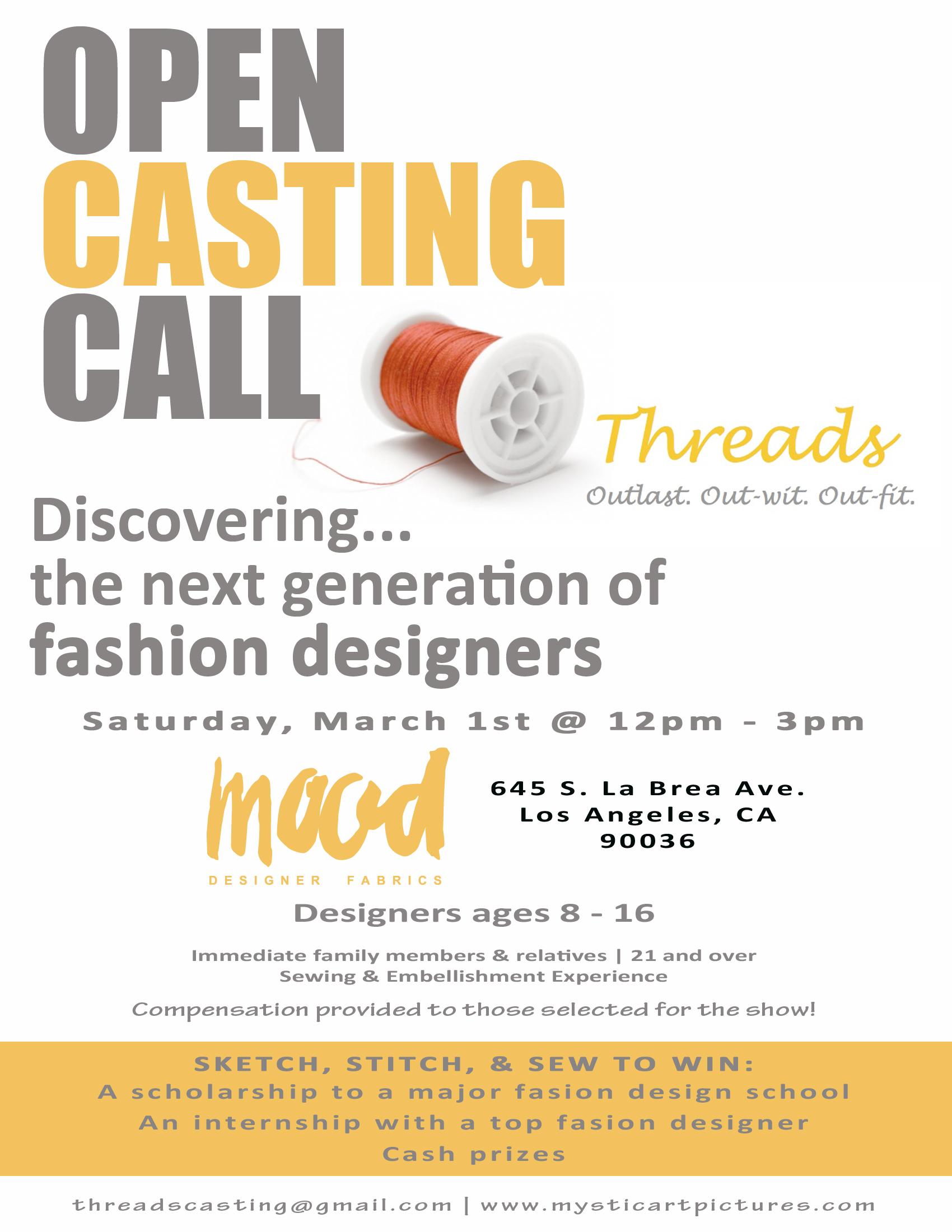 Fashion Designer Casting Call