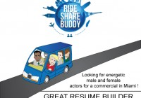"""Audition flyer """"Ride Share"""""""
