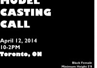 Model casting call in Toronto