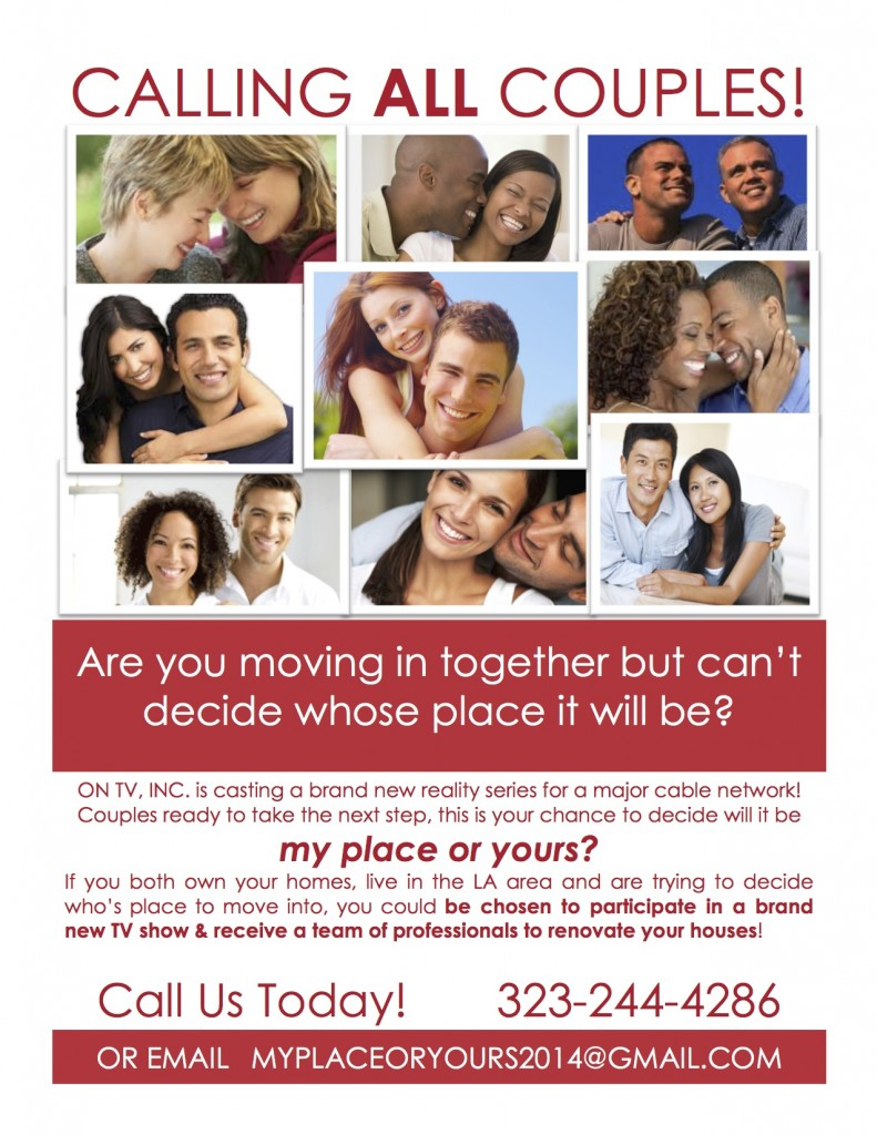 Casting Call For New Home Renovation For Couples In Los