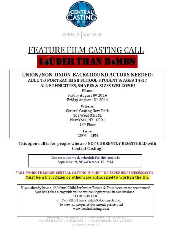 Movie Extras Casting Calls