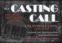 Sacramento CA casting call for film
