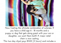 Baby casting call in L.A. for commercial