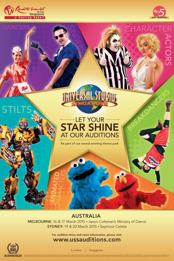 Universal Studios auditions in Australia
