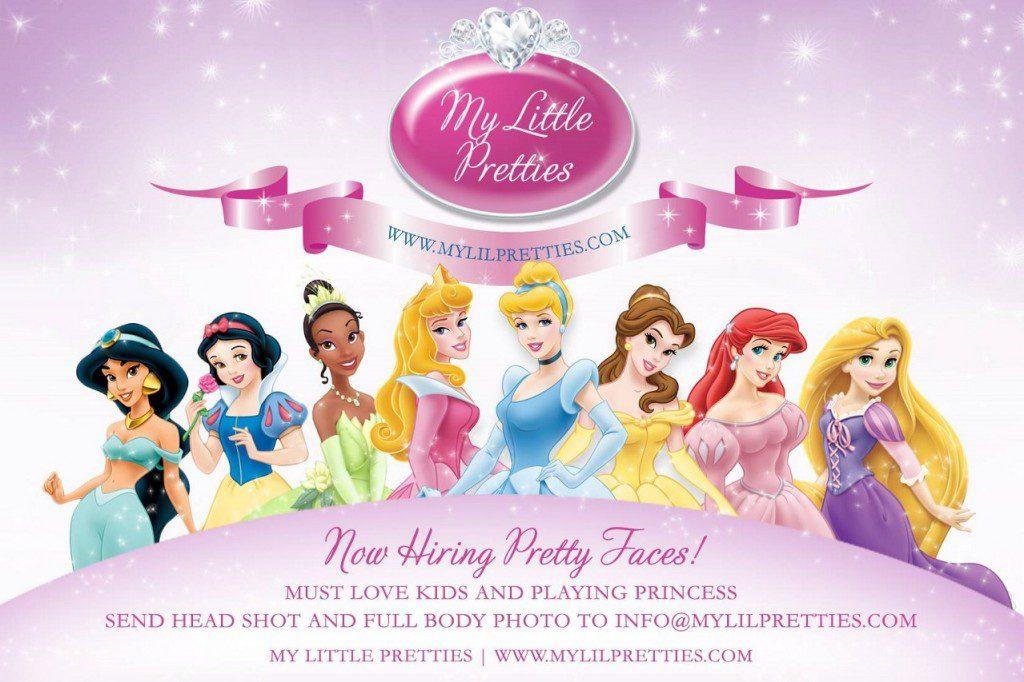 Приглашения в стиле принцесс диснея