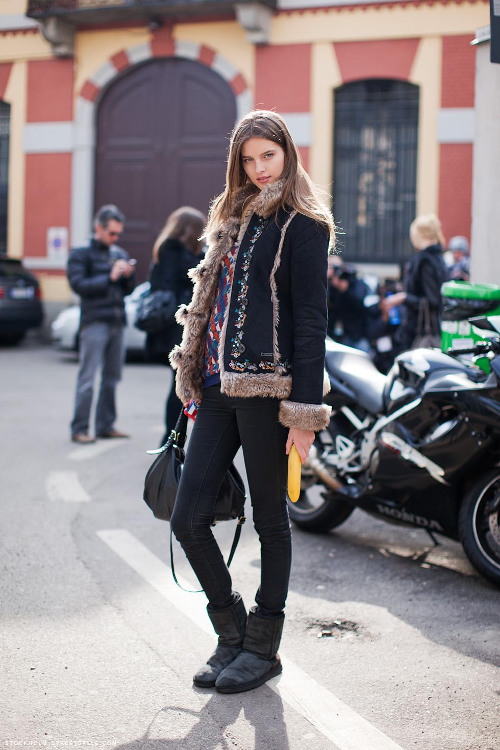 New York Fashion Week Models Off Duty