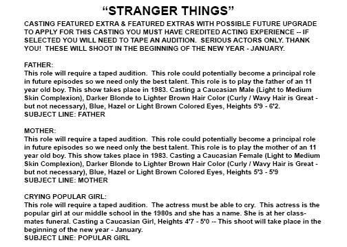 "Netflix new series ""Stranger Things"" cast"