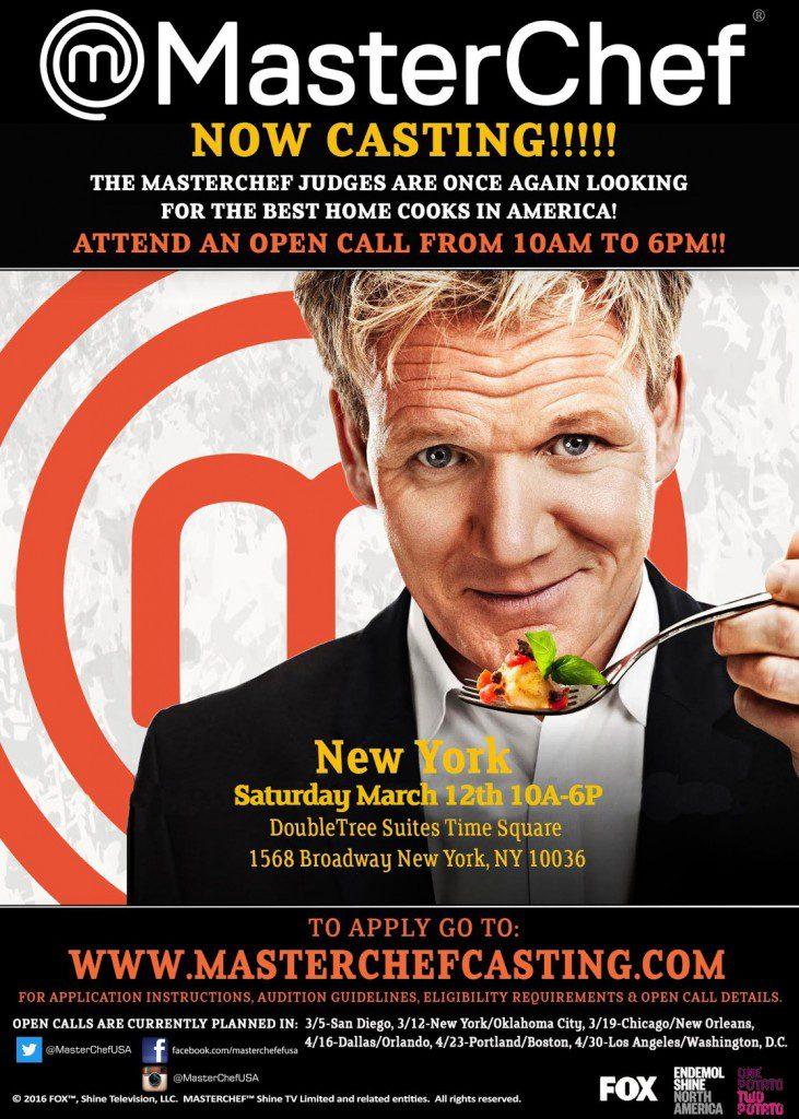 MasterChef NYC auditions 2016