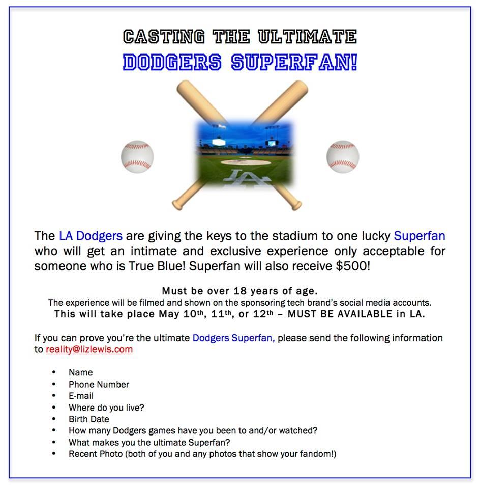 Casting Dodger fans