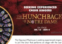 Auditions for Singers in Maine Hunchback stage play