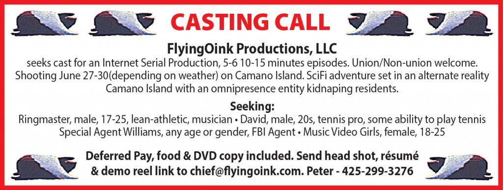 Washington area casting call for upcoming show
