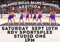 Solar Bears cheer tryouts