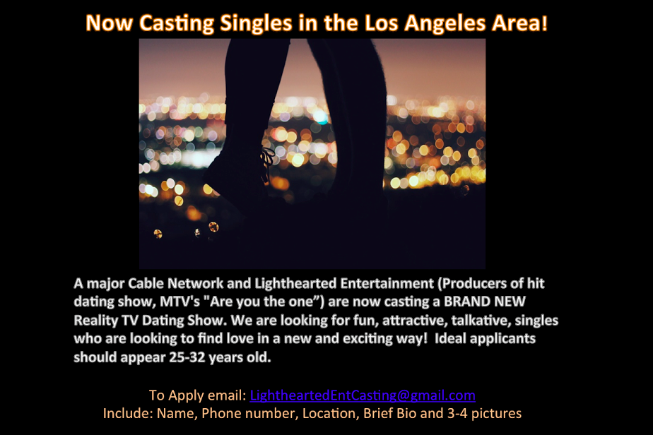 reality dating show casting