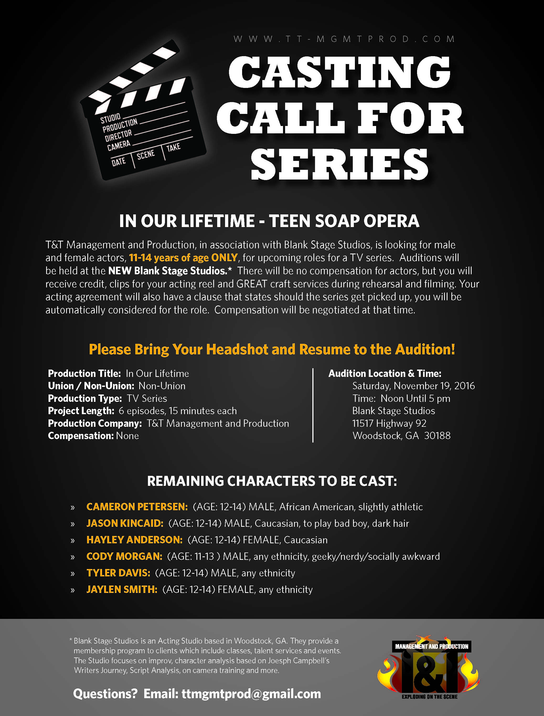 casting call flyer - Dolap.magnetband.co