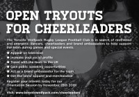 cheerleader tryouts Toronto