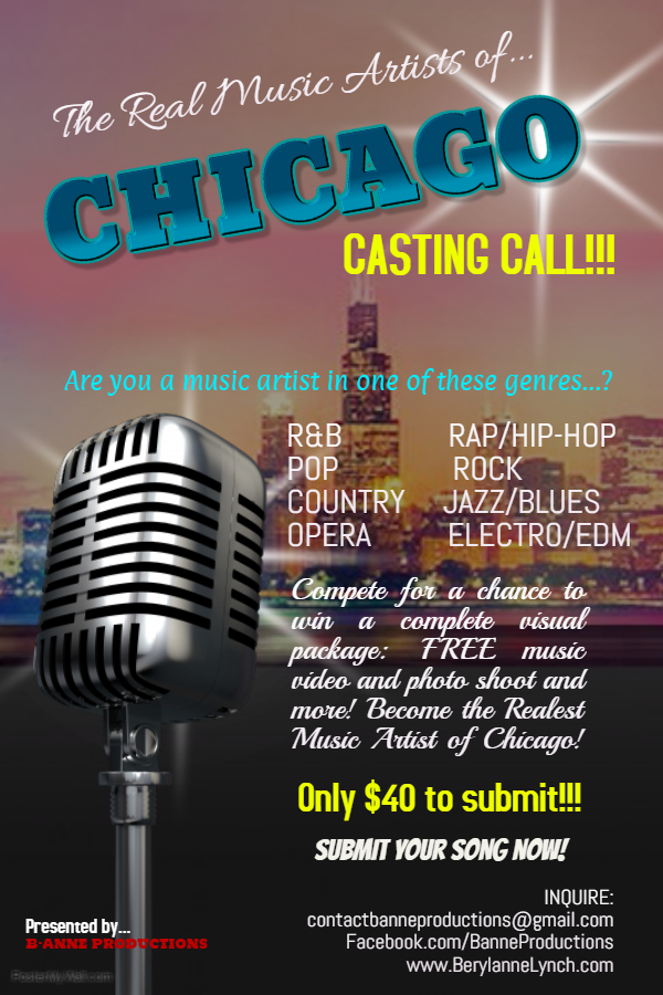 The-Real-Music-Artist-of-Chicago-Casting-Call-2 | Auditions Free