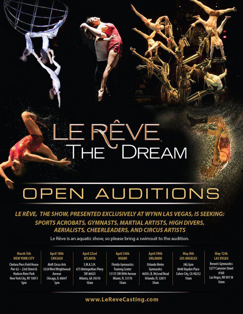 Le Reve Las Vegas auditions