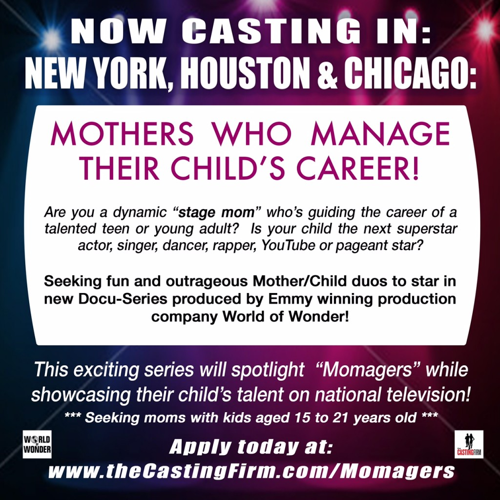 casting call for momagers