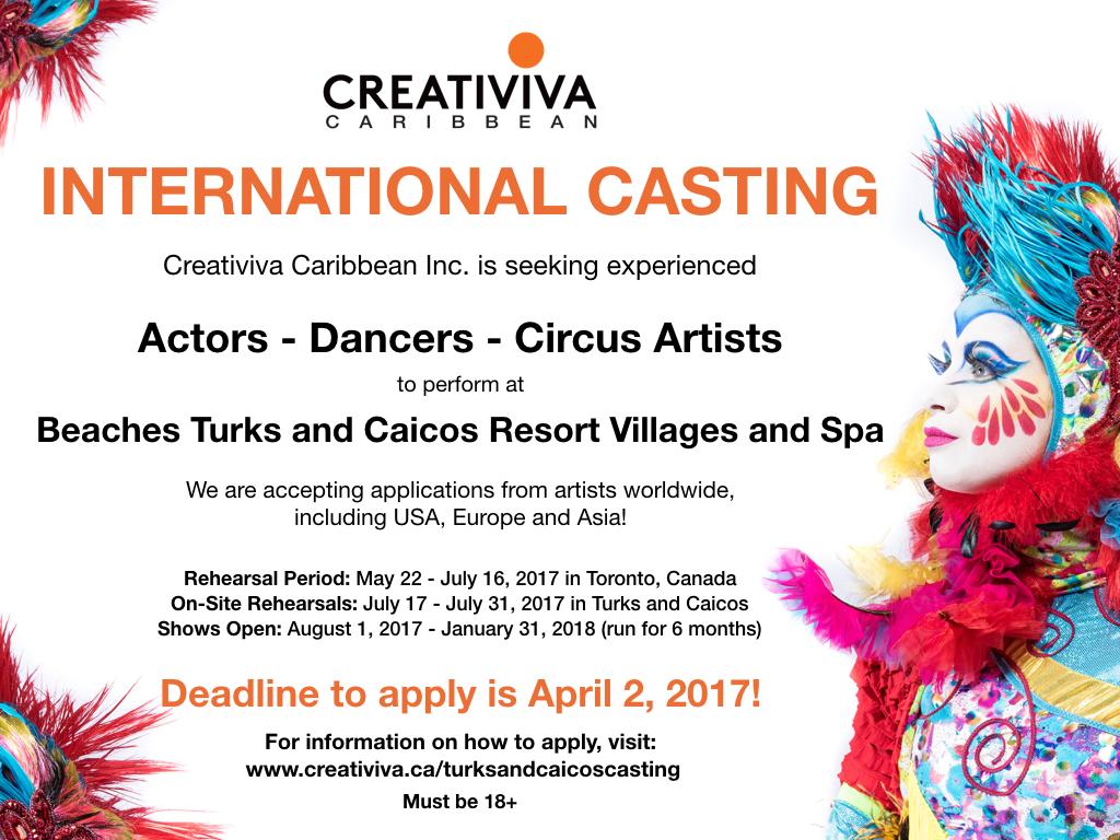 Creativiva auditions