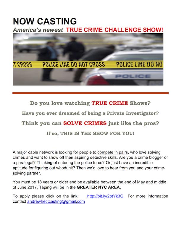 Amateur crime investigator