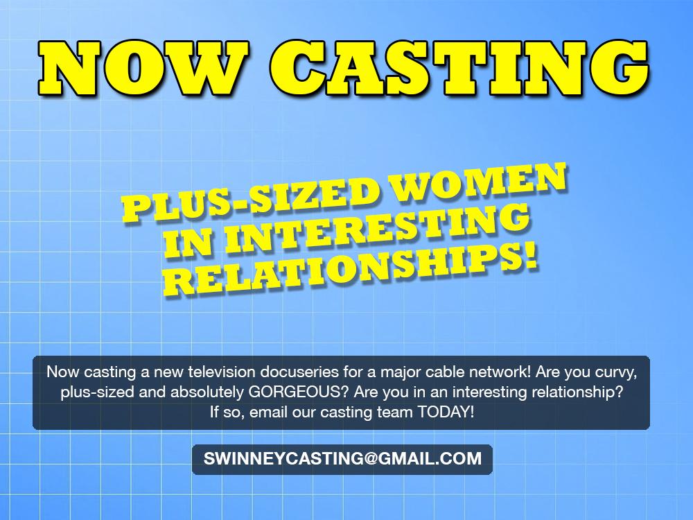 plus size model casting
