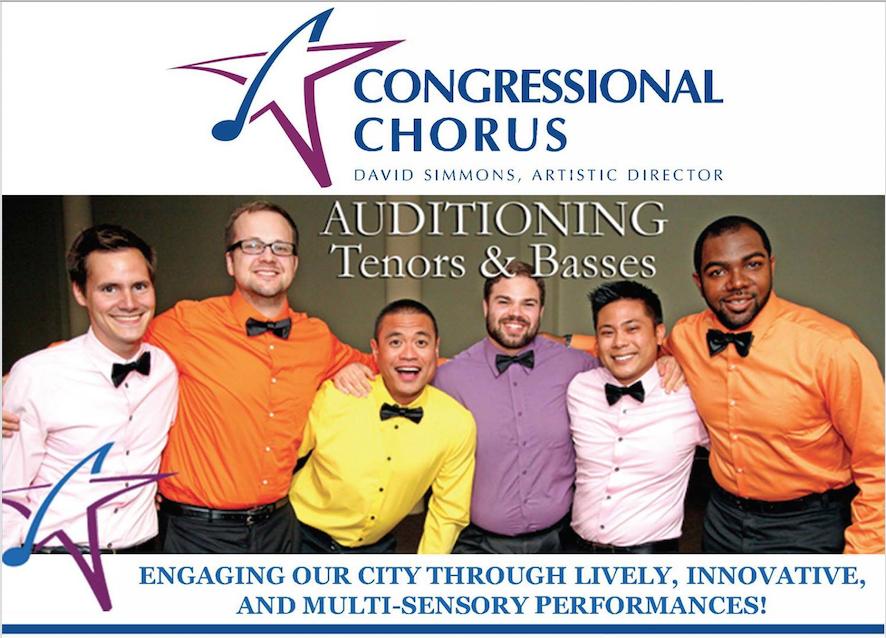 Congressional Chorus singer auditions