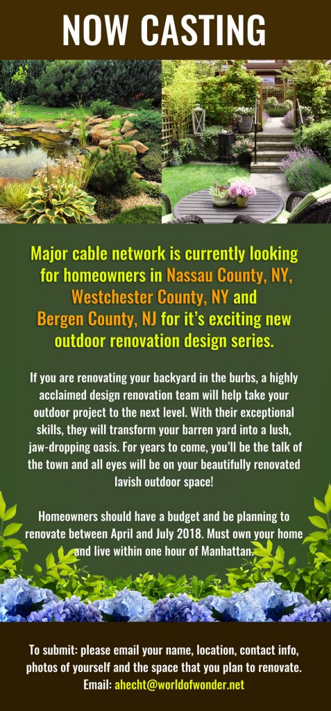 casting homeowners in nassau westchester ny and bergen county nj