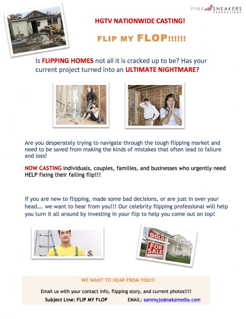 House Flip Rescue Casting call