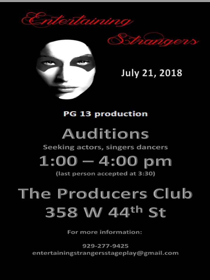 Singer Auditions in New York City for Theater Production