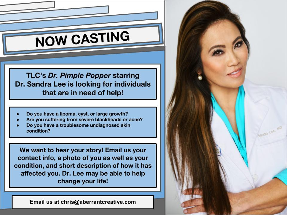 Dr  Pimple Popper is Now Casting Nationwide for People With