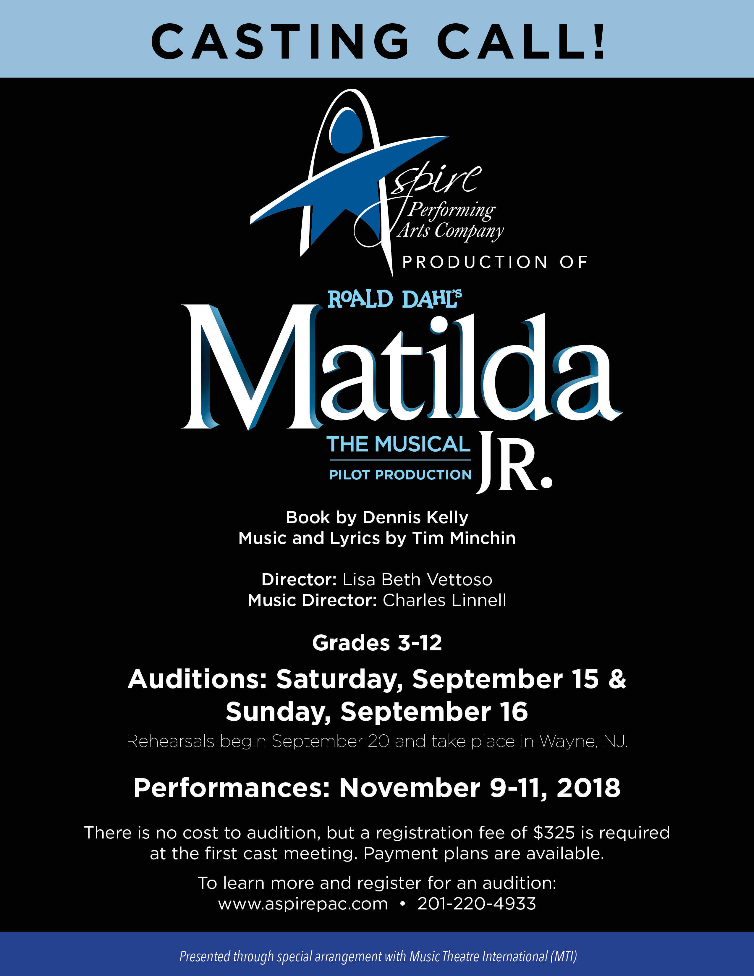 Musical Theater Auditions for Kids & Teens in New Jersey