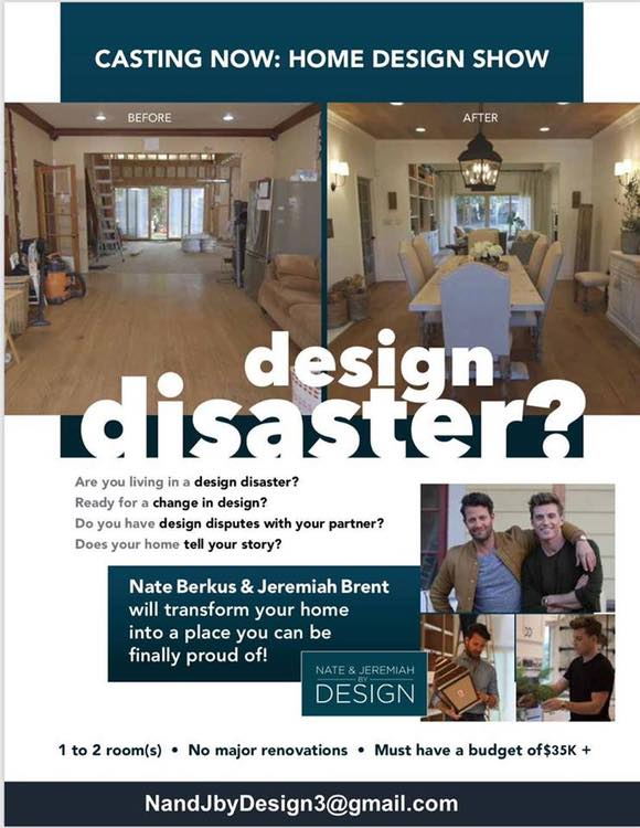 Casting Home Owners For Tlc S Nate And Jeremiah By Design Auditions Free